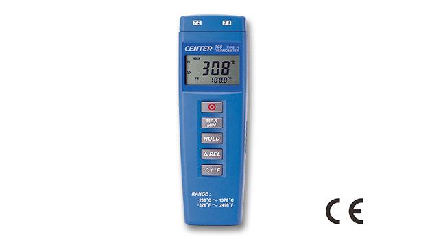 CENTER 308_ Dual Input Thermometer (Compact Size, Economy) 1