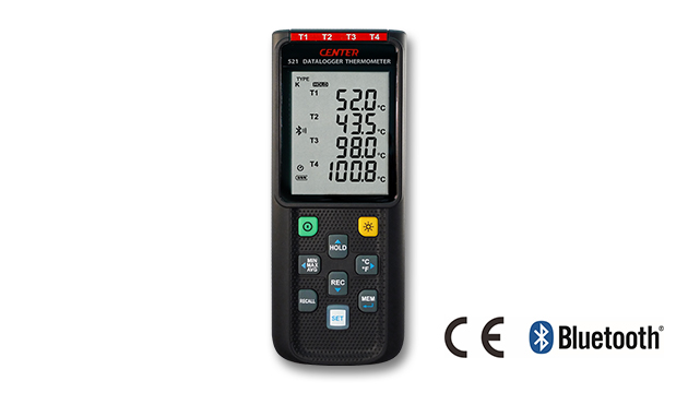 CENTER 521_ Wireless Four Channels Datalogger Thermometer (K/J/E/T Type, Bluetooth) 1